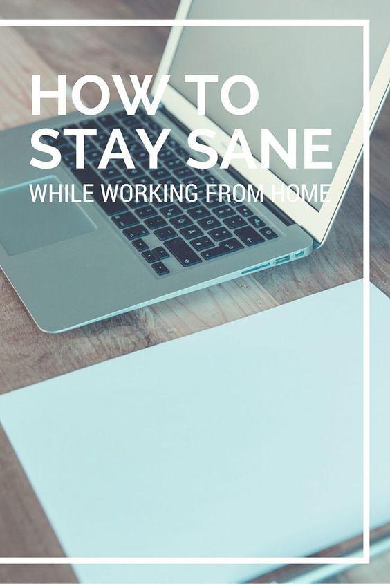 Como continuar são trabalhando em casa.