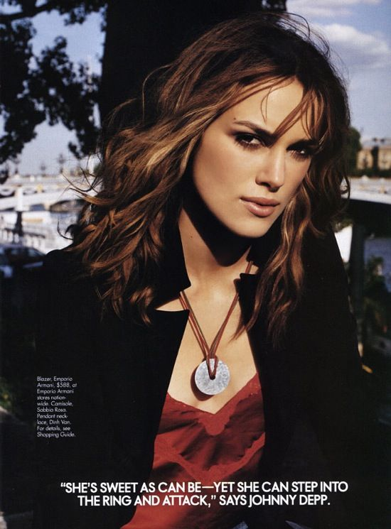 Keira Knightley Photo ELLE USA August 2003