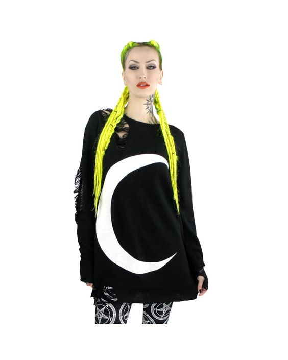 Killstar | Luna Knit Sweater - Tragic Beautiful buy online from Australia