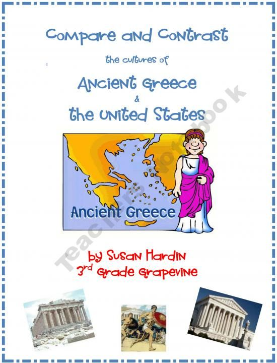 compare and contrast of ancient greece On a contemporary map trace the current boundaries of greece compare and contrast the sphere  and was present throughout ancient greece's history compare and.