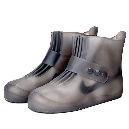 Black Waterproof Motorcycle Biker Reflective Rain Boot shoes Footwear Cover TO