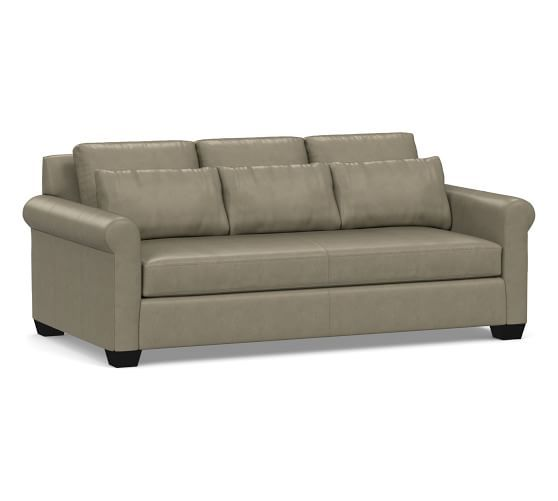 York Deep Roll Arm Leather Sofa Collection Leather Sofa Leather