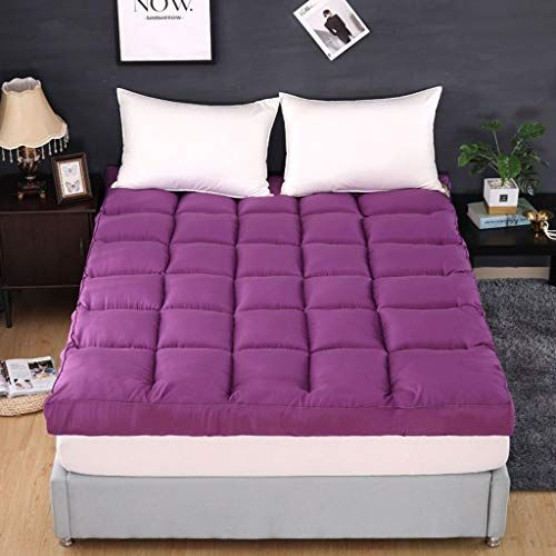 Thicken Stereoscopic Mattress Futon Topper Breathable Velvet Soft Comfortable For Bedroom Purple 150x200cm Best Mattress Soft Velvet Mattress Manufacturers