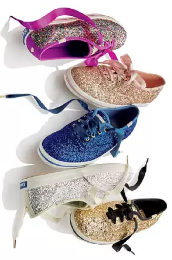 Love these sparkly kate spade Keds