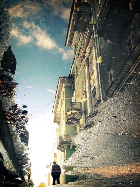 Street in the Puddle II, by ~Sulde
