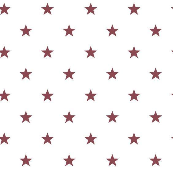 Noordwand Sterrenbehang in wit/rood sterren ster behang stars ...