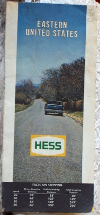 http://ajunkeeshoppe.blogspot.com/  ROAD MAP 1970 Hess Interstate Highway Routes Of The Eastern United States