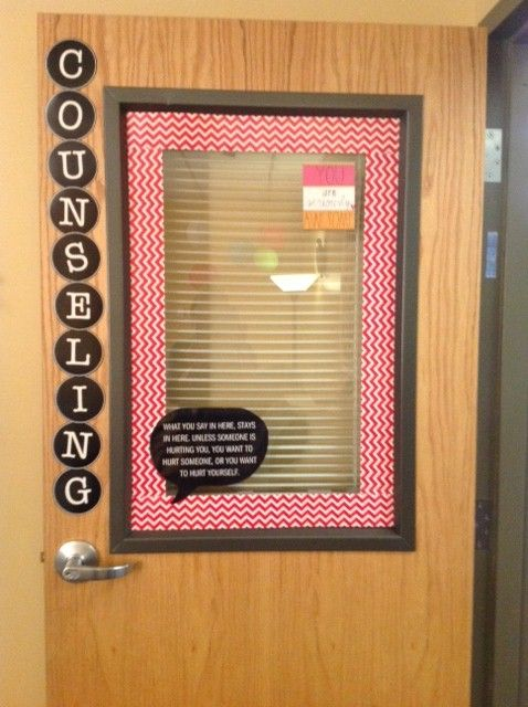 Jennifer Estrada you're brilliant!  She said: Love the idea of putting the confidentiality rules on the door!