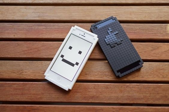 The 8-Bit Bumper for iPhone 5 is made by TPU, it fully protects the aluminum body and it transform the phone into pixel. On the back theres a glossy 8-Bit logo, just the same as the original iPhone 5. #design #iphone #case #iphonecase #smiley