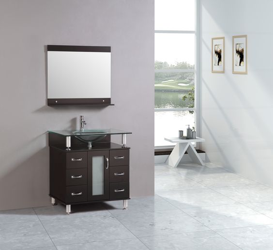 30 bathroom vanity one piece glass top home decor store toronto