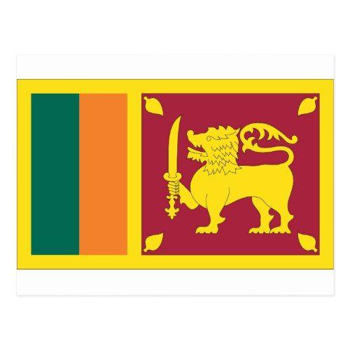Sri Lankan Flag Postcard Zazzle Com Sri Lanka Flag Flag Sri Lanka