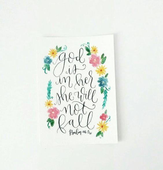 Calligraphy Bible Verse Art And Bible Verses On Pinterest