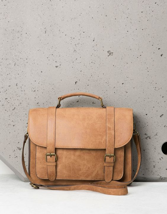 Strapped college bag. Discover this and many more items in Bershka with new products every week