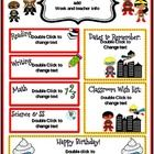 Thank you for your interest in these adorable monthly newsletters! I have included 4 EDITABLE (in powerpoint) options for each month:  1.Superhero ...