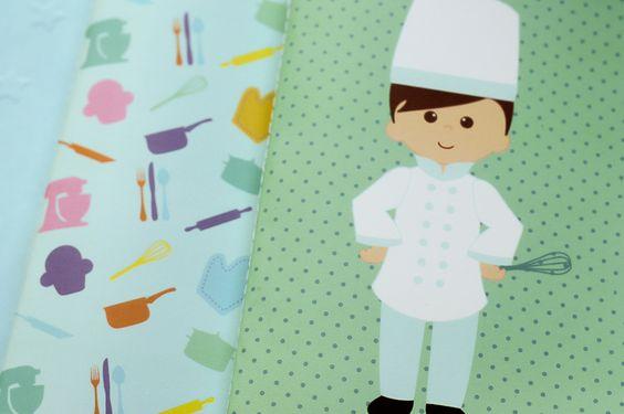 Presentes e Mimos - Chef Azul - www.tuty.com.br #tuty #presentes #mimos #geek #gift #presente #botton #chaveiro #caderno #moleskine #draw #illustration