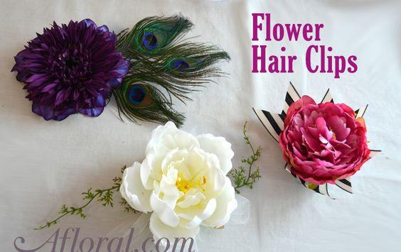 Wedding Hair Clips are in! Faux flowers used to make beautiful, and simple to create hair clips. #weddinghair #weddinghairclips #hairclips #flowersinhair #afloral