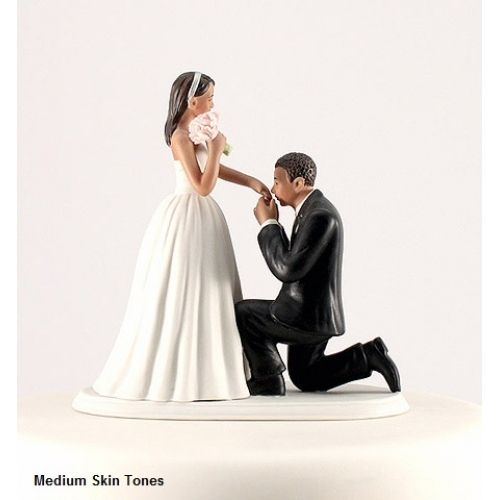 A 'Cinderella Moment' Bride and Groom Wedding Cake Topper