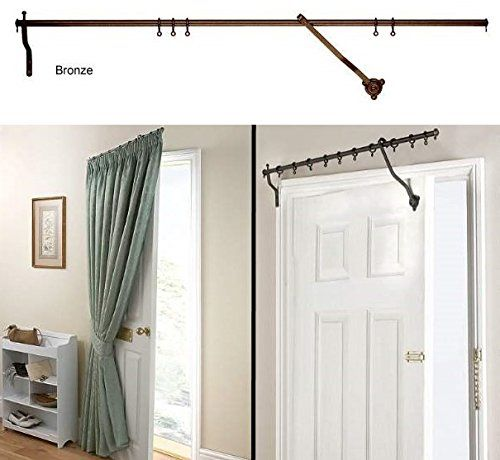 Hinged Curtain Pole For Door | Homedesignview.co