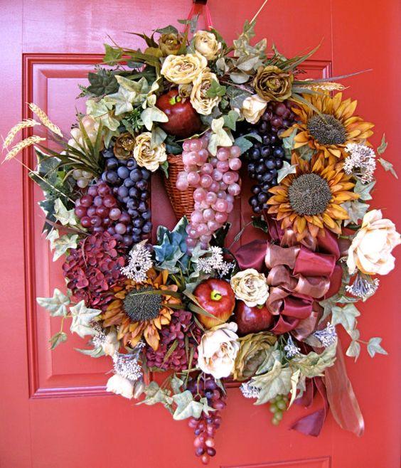 Vineyard Harvest Wreath by IrishGirlsWreaths , $125.00