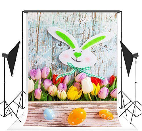 Cartoon Rabbit for Children Photography Backdrops Photo Props Studio Background 5x7ft