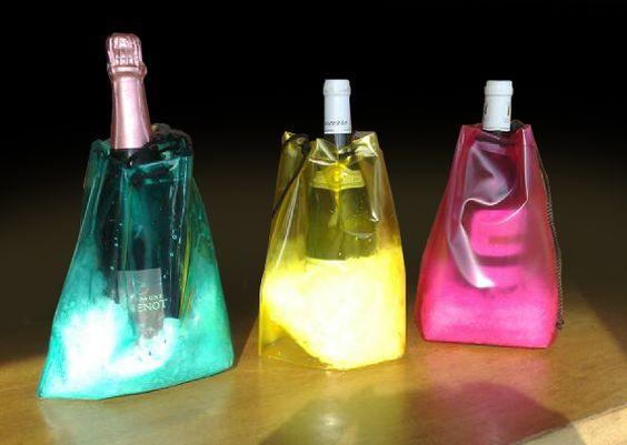 Rafraichisseur de bouteille en PVC transparent de différentes couleurs
