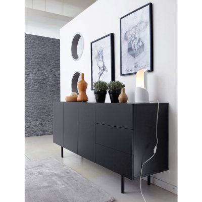 buffet enfilade design 3 portes 3 tiroirs joan la redoute mobile buffet pinterest. Black Bedroom Furniture Sets. Home Design Ideas
