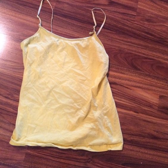 Yellow Cami top medium M Zenana Cute yellow Cami top in size medium. Made by Zenana. Is not bra lined. #41. Zenana Outfitters Tops Camisoles