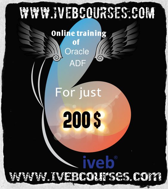IVEBcourses.com presents Oracle ADF online classes for only $200. for more info http://www.ivebcourses.com/demo-for-online-training.html click the link , leave your details , know your trainer , excel in oracle ADF