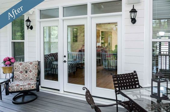 Triple French Doors With Transom By The Aluminumcompany