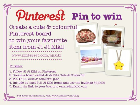 Ji Ji Kiki 'Cute & Colourful' Pin it to win it #jijikiki