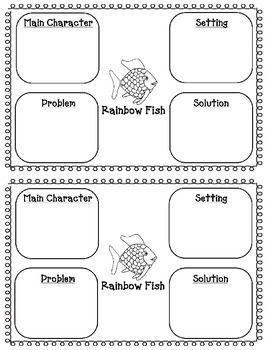 Rainbow Fish Freebie - Writing & Story Elements Worksheets ...
