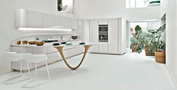 White lacquered kitchen