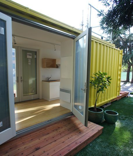How to build amazing shipping container homes glasses duct tape and glass doors - Shipping container homes underground ...