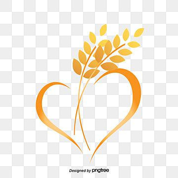 Wheat Logo Yellow Heart Shaped Vector Png Transparent Clipart Image And Psd File For Free Download Lotus Logo Snapchat Logo Prints For Sale