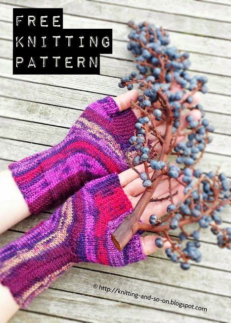 Free Knitting Pattern: U-Turn Mitts