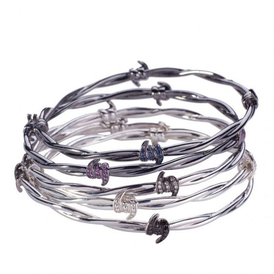 New DIY idea- get thin and thick wire; cut some pieces and wrap around like barbed wire Various thicknesses for the actual bracelets  stephen webster