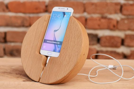 Samsung Docking Station Samsung Galaxy S6 dock Wooden phone holder Father's Day Gift Samsung wood stand