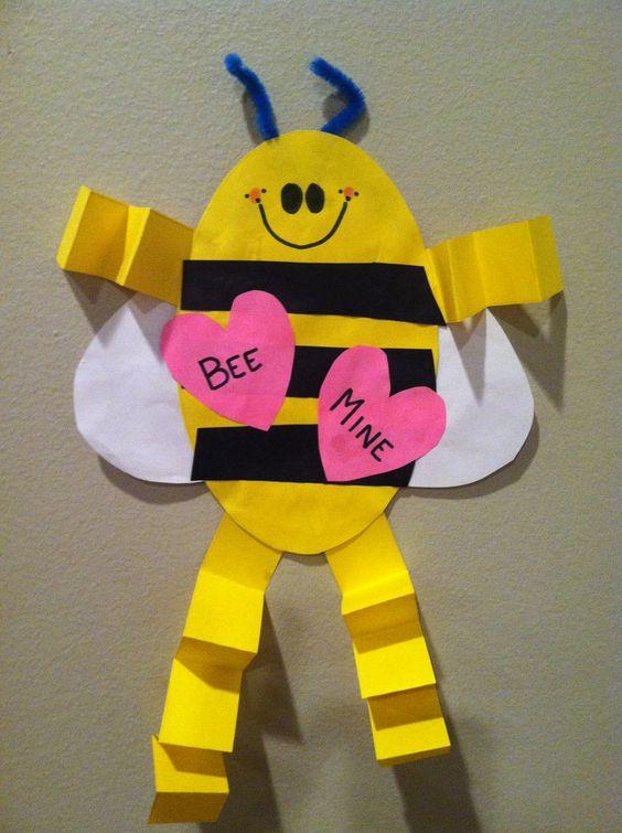 valentine bee mine craft in preschool and pre k my pre k class