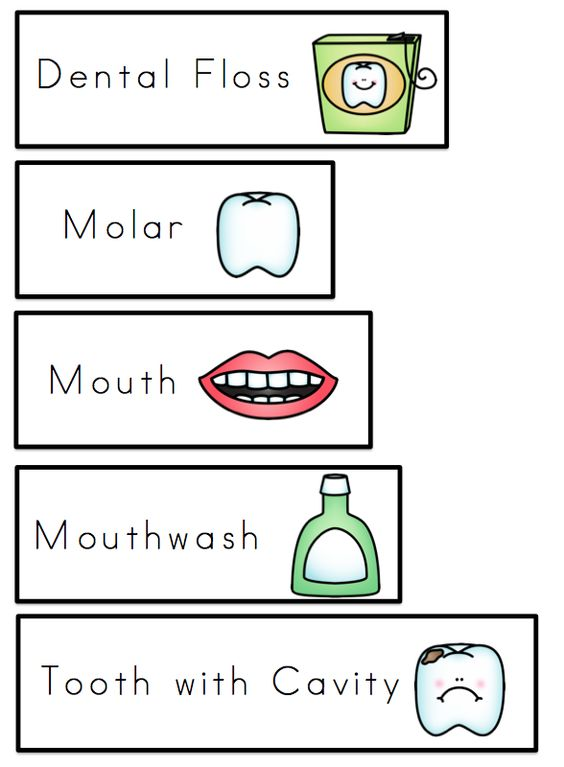 Number Names Worksheets dental health printables : Preschool printables, Words and Health on Pinterest