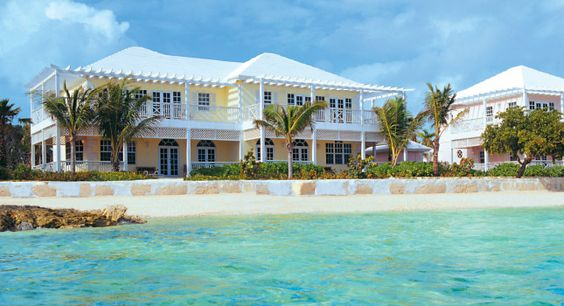 Pastel colored house in the Bahamas