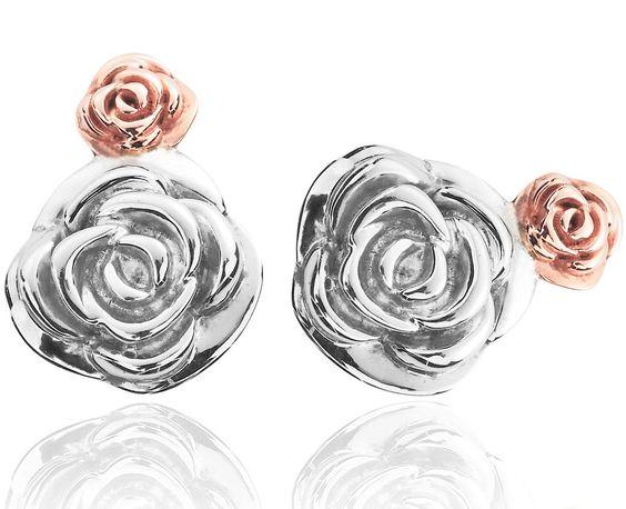 Clogau Earrings Glyn Rhosyn Stud Silver | C W Sellors Fine Jewellery and Luxury Watches