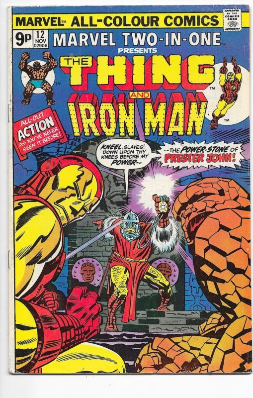 Marvel Two-In-One #12 Thing & Iron Man Bronze Age Comics VF-