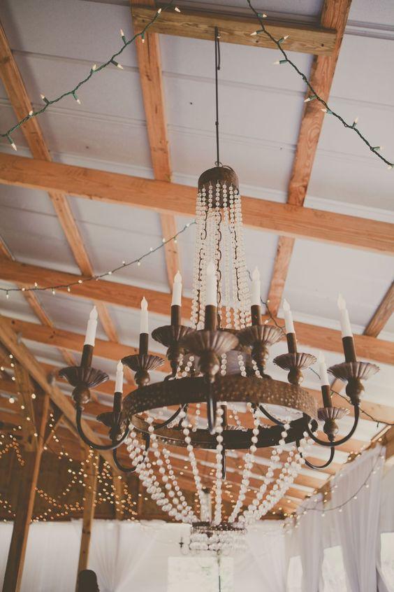 Genevieve Chandelier by Ballard Designs  I  wedding by Cross Creek Ranch