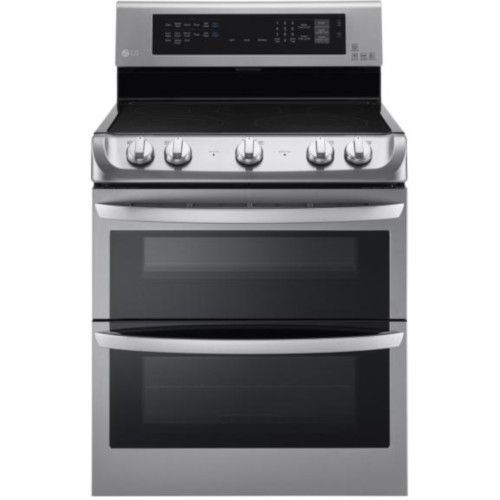 Lg 7 3 Cu Ft Electric Double Oven Range Lde4413st In 2020 Electric Double Oven Double Oven Range Double Oven