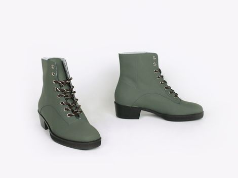 New Kid Penny Dreamcore in gomma coated leather, khaki green