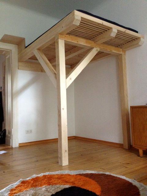 Cama-Luna Hochbett, Hochebene, Galerie nach Maß wohnen - hochbett fur schlafzimmer kinderzimmer