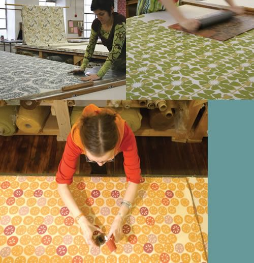 Galbraith & Paul creations are block printed to order, one shade and one yard at a time.