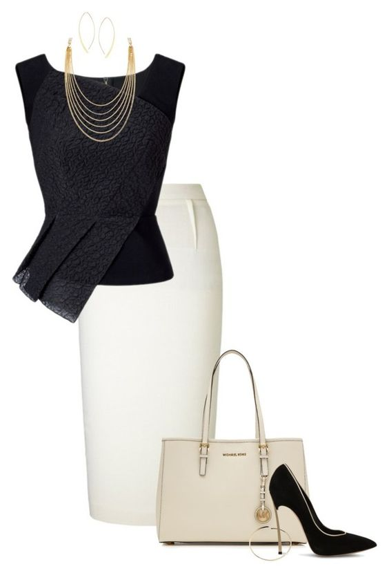 """""""#596"""" by anne1999 ❤ liked on Polyvore featuring Roland Mouret, MICHAEL Michael Kors, Maison Margiela, Casadei, White House Black Market and Lana"""