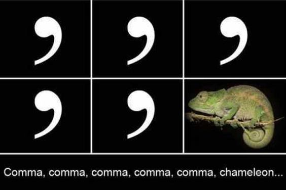 Comma chameleon: How it changes the color of your meaning:A look at the utility infielder of the punctuation team.