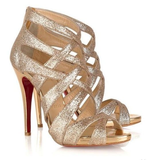 Christian Louboutin&39s gold gladiator heels can be worn with any